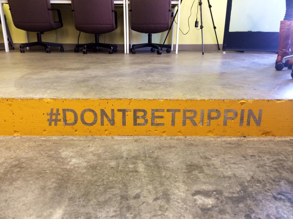 So I immediately tripped on this step. #fridayforgood #graceful cc @odalc http://t.co/RmBPc7lxC6