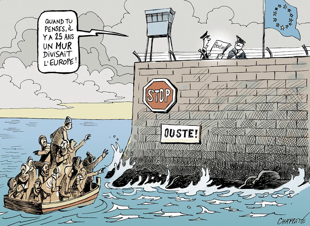 Dessins de chappatte on twitter 25 ans apr s la chute du for Dessin mur