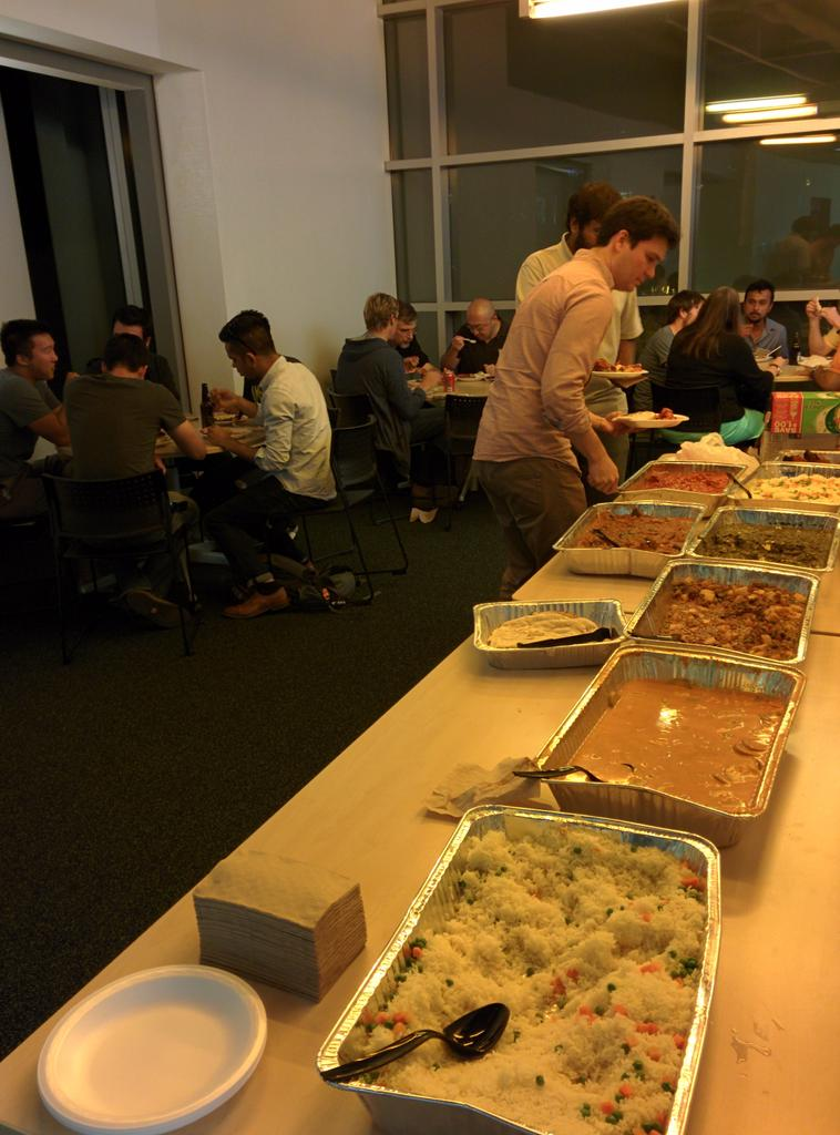 Kicking off the Network of Biothings hackathon with food, beer, and introductions http://t.co/j6gWJxOeS7 #hackNoB http://t.co/WkaJQUj5Sc