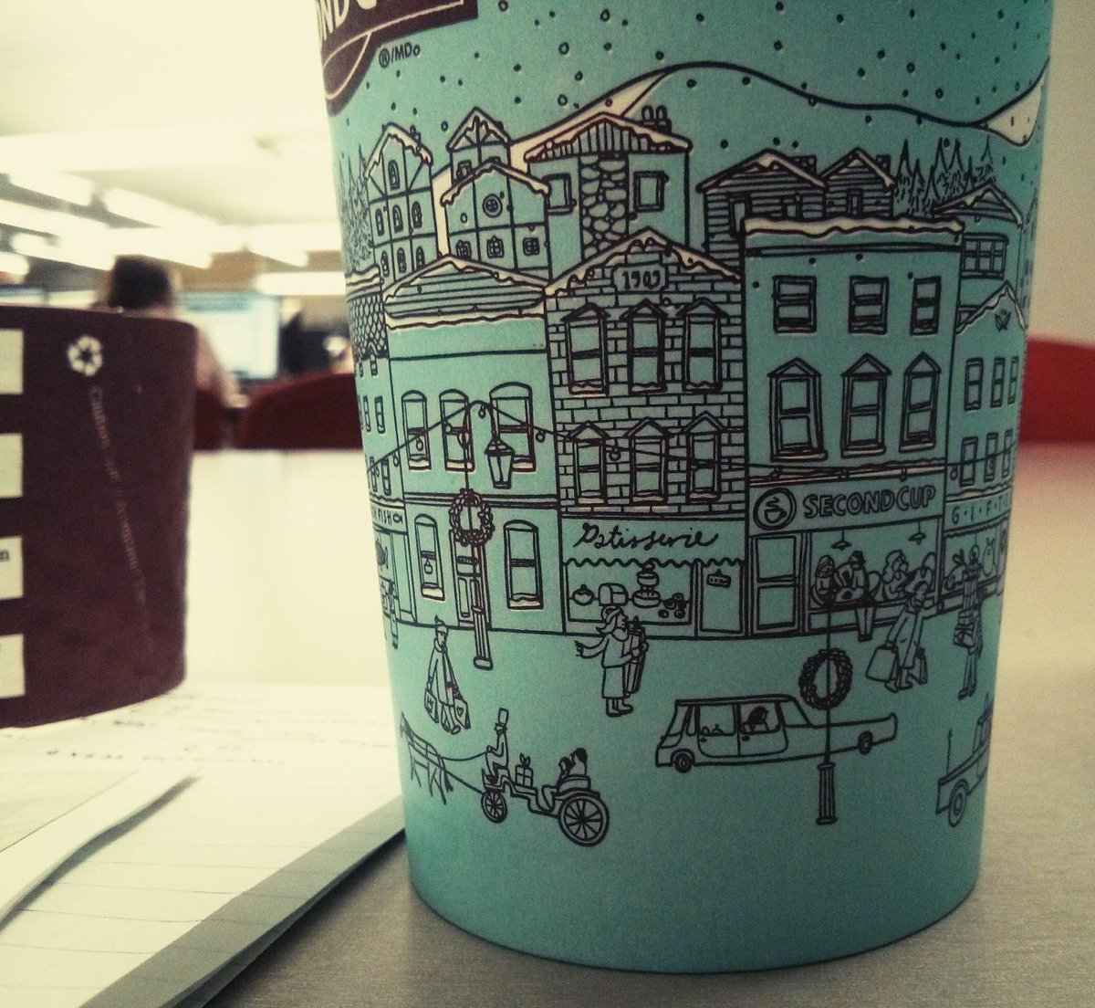 Renewed love for @secondcup :) <3 the new cup design http://t.co/l5wGrBtYFa