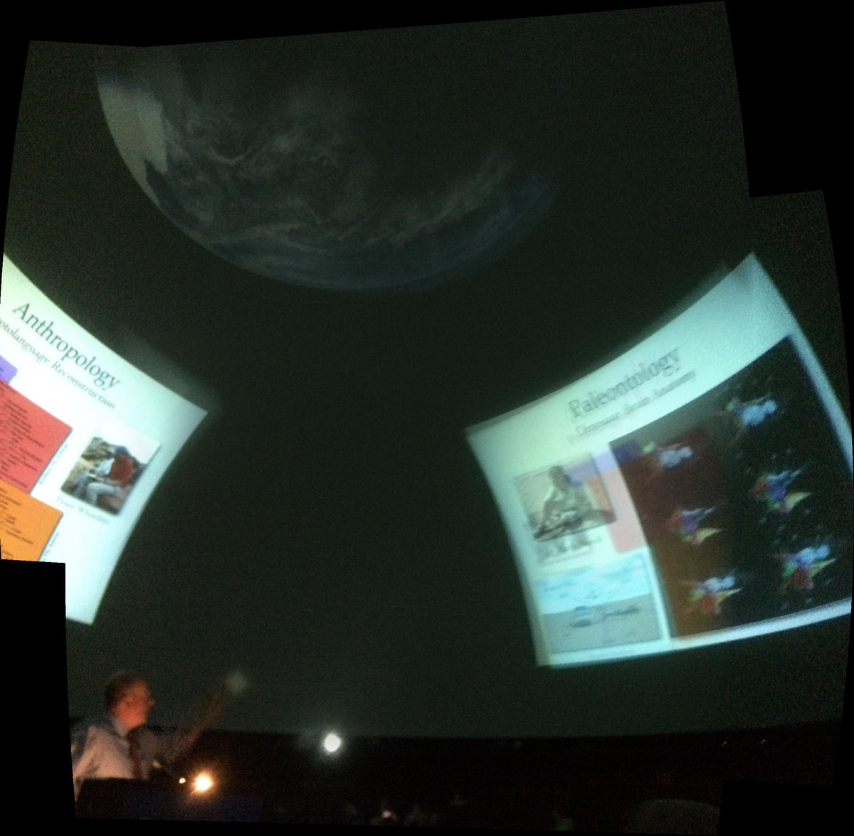 Getting an overview of the research at @AMNH. (We're in the dome!) 🌌 http://t.co/SwHIcEChJ8