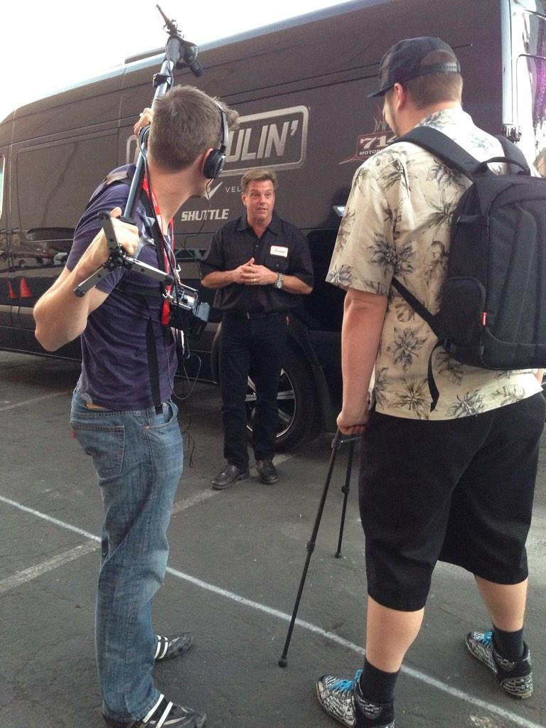 The work never stops for @chipfoose working long hours at SEMA. #Foose #SEMAignited #SEMA2014 #Overhaulin http://t.co/66hRg83LOY