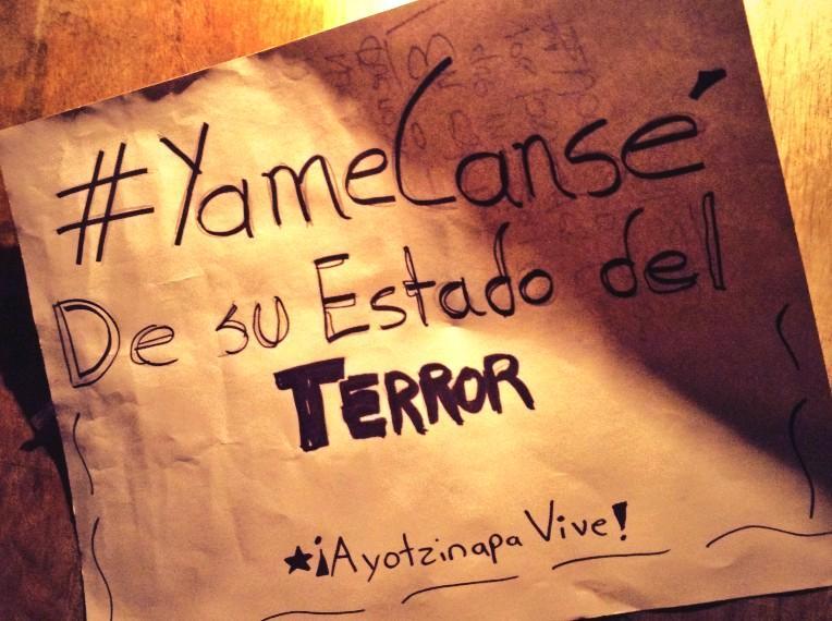 Todxs para el Angel de la Independencia. #YaMeCanse  Detengamos su Estado Terrorista. #AcciónGlobalporAyotzinapa http://t.co/Tu11oX4Mn7