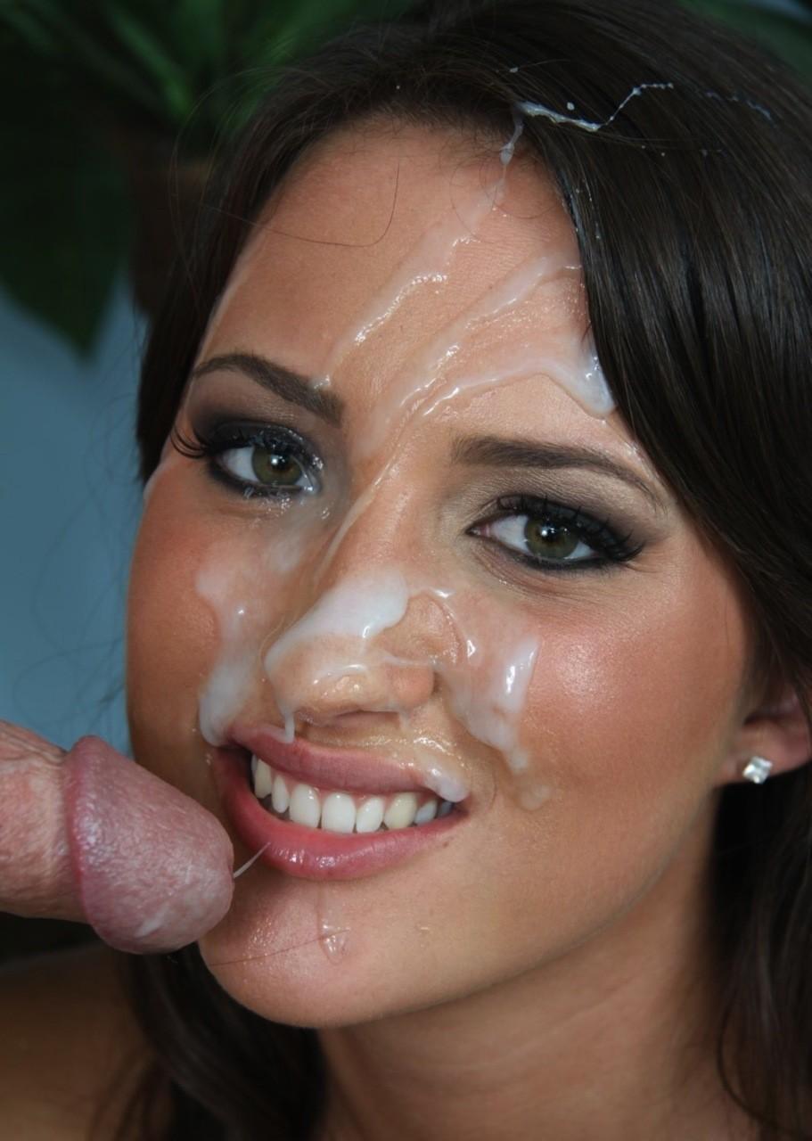 Cumshot facial