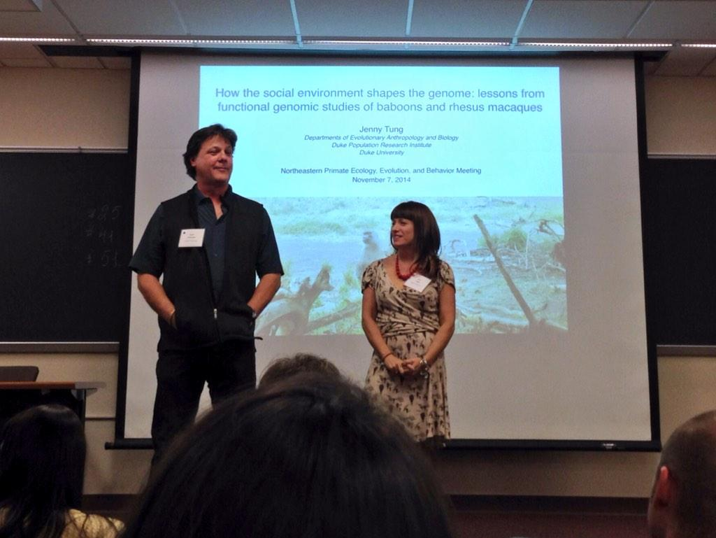 Palombit and Vogel welcoming us all to #NEPEEB ! #sexualdimorphism http://t.co/205QfuXgdm