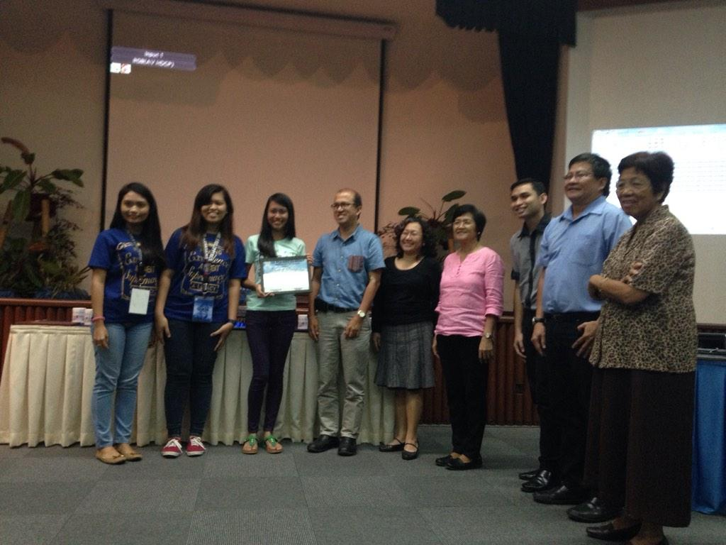 Top scorer for Individual written exam is  Bicol University's Gisela Isabel Mirandilla with 70 points. #NIGQC2014 http://t.co/TLTJ89VHeM