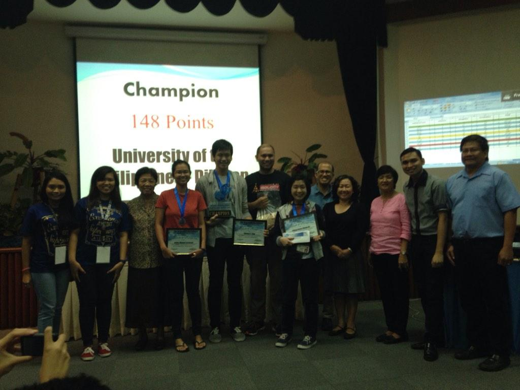 Champion of #NIGQC2014 is University of the Philippines Diliman with 148 points. http://t.co/VIMqyylTiI