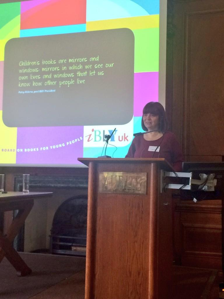 @annlazim welcomes the audience to the @IBBYUK / @NCRCL conference   #IBBYBelong http://t.co/664URmaxME