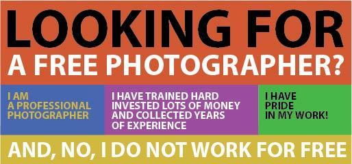 No, I do not work for free - Nee, ik werk niet gratis