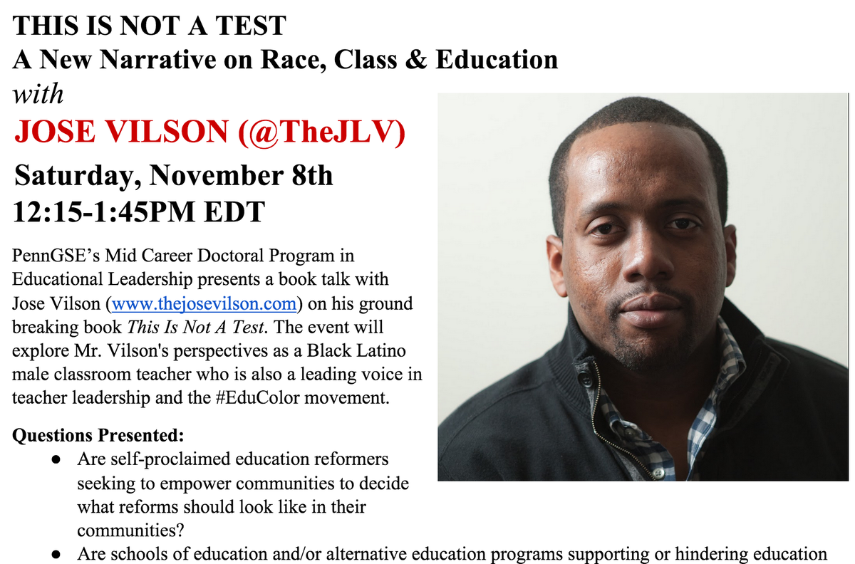 LIVE LINK > In 15 Min @TheJLV discusses his new book #ThisIsNotATest http://t.co/Q2iaB98qIU >We'll use #pennedchat http://t.co/K8Q3TjLH88