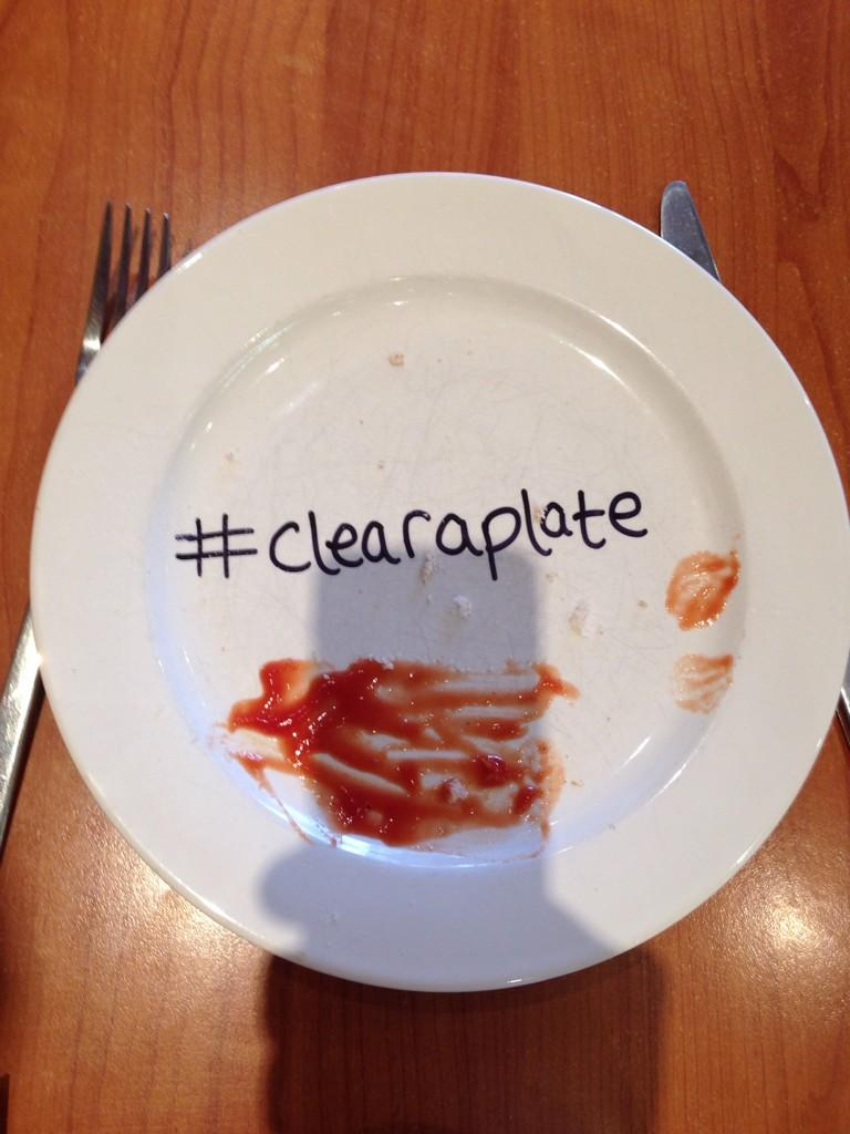 """Plate cleared #clearaplate tackle food waste and help defeat hunger in the UK http://t.co/xw7srsksDt"""" #spon http://t.co/6Wx7ervieT"""