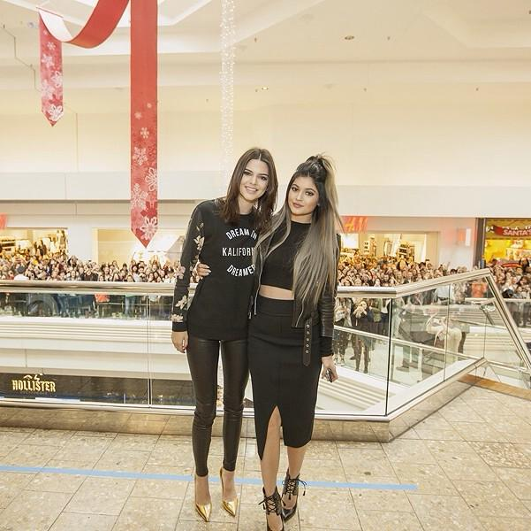 7830f76e451 Kendall and Kylie Launching Their Pac Sun Holiday Collection at ...