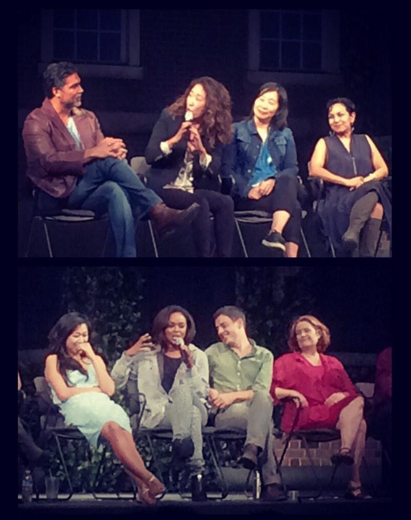 #latertweet @IamSandraOh and @sharonleal17 at last night's #StopKiss Q&A. i heart them. @PasPlayhouse http://t.co/AOR7PKy8KI
