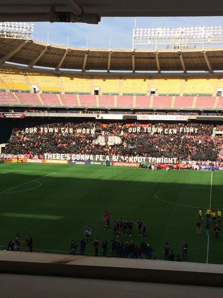 DC United supporters came out in force