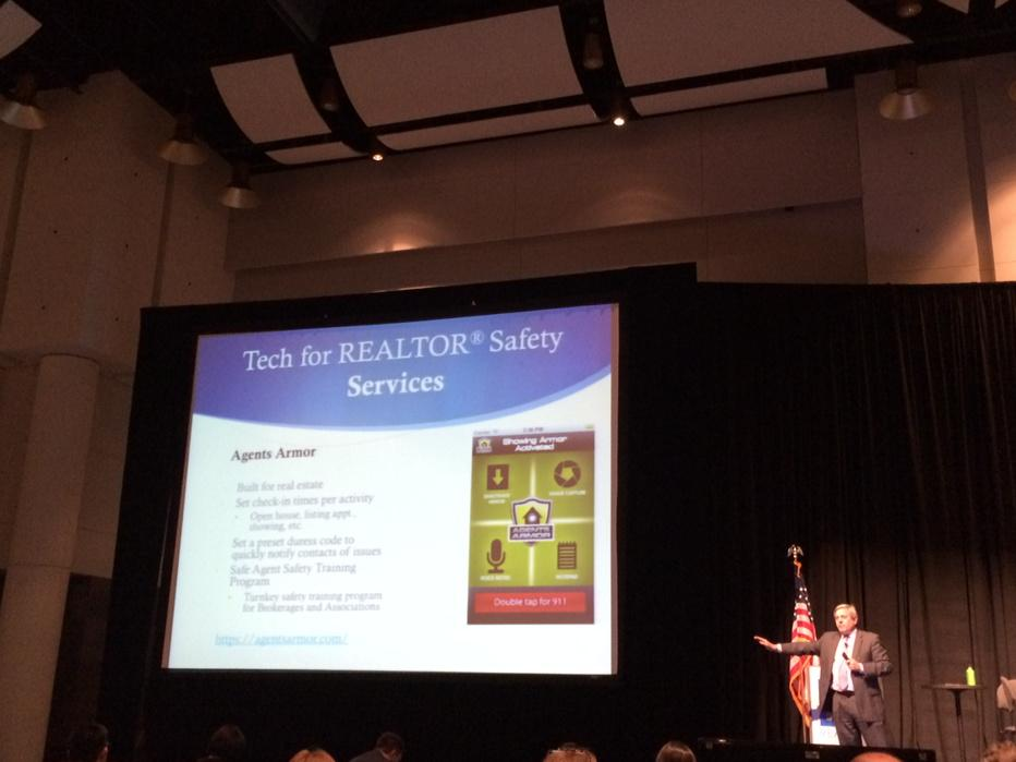 NAR CTO, Mark Lesswing presenting on @REALTORS Safety. #narannual http://t.co/rKs1mxZbEe