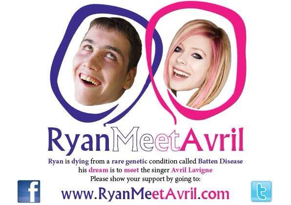 Hey @AvrilLavigne, you should look this, it's for a good cause!  More info: @ryanmeetavril and http://t.co/J3W4f4mDHn http://t.co/f8aDRhIiuE