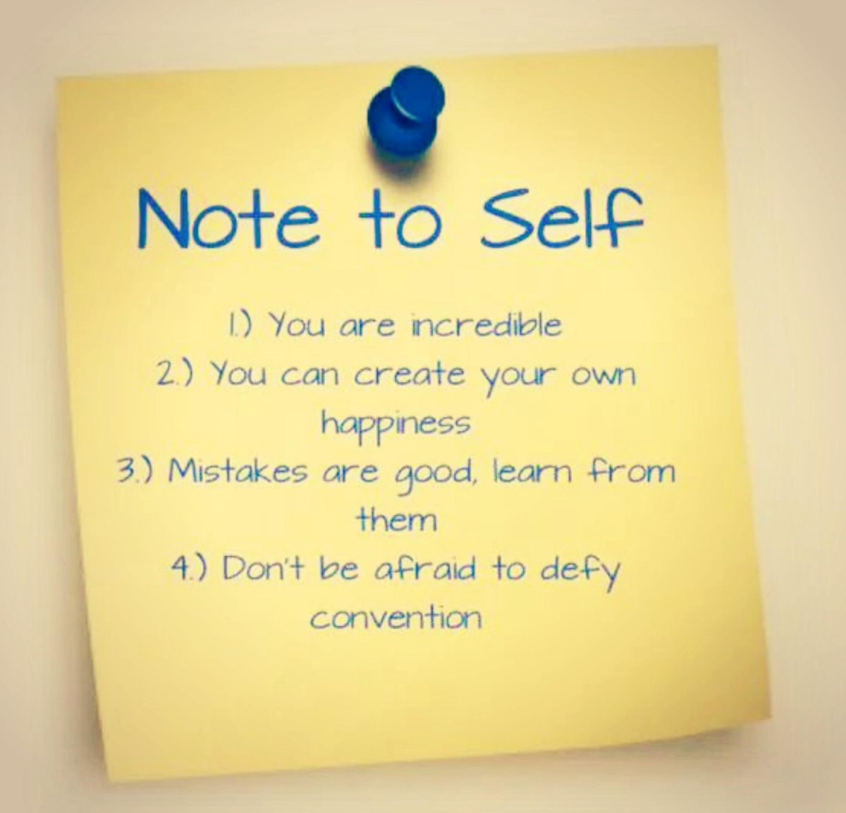 "Quotes On Sticky Notes: @10millionmiler: ""note To Self"" #quotes #wisdom"