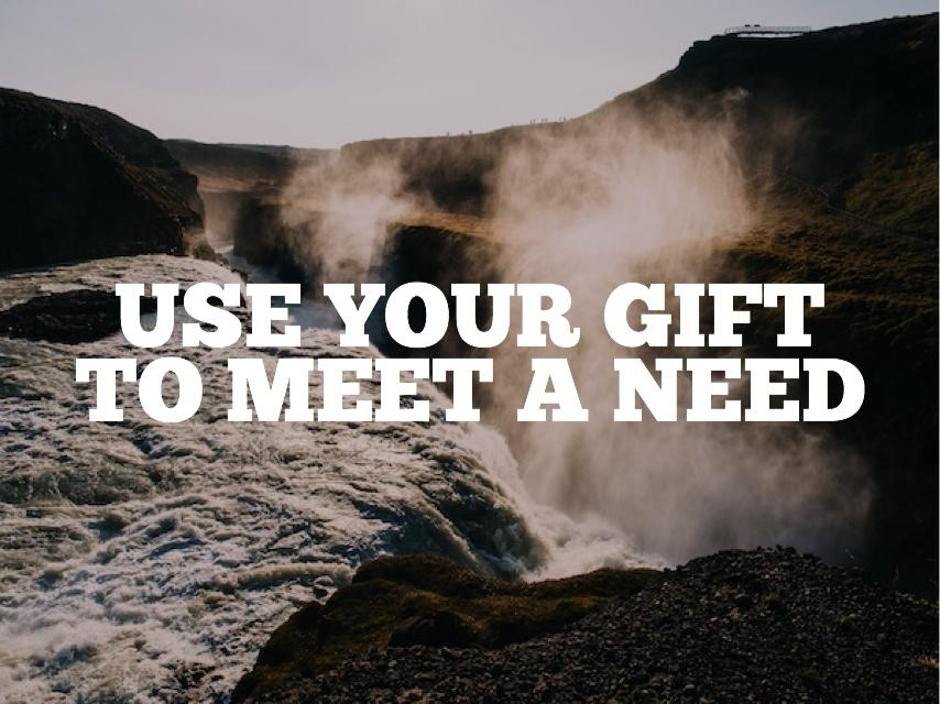 Use your eyes to see the needs, and use your talents to meet them. http://t.co/KLqVWOXBG5