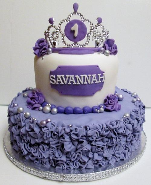 Groovy Cakesontop On Twitter Little Princess Purple Fondant Cake Happy Funny Birthday Cards Online Kookostrdamsfinfo
