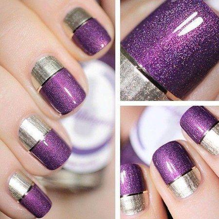 Nded Nageldesign On Twitter Two Toned Metallic Nails Von