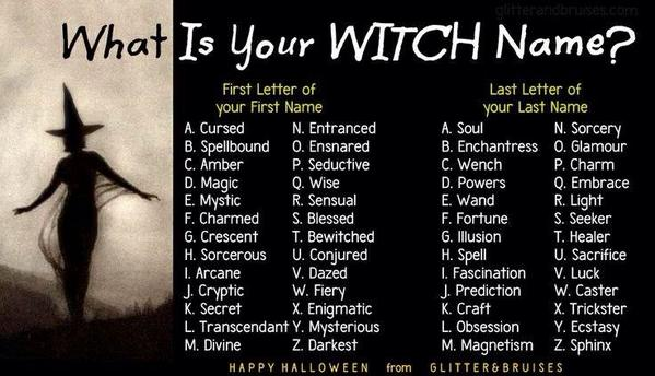 whats your witch name rt and reply with the answer i