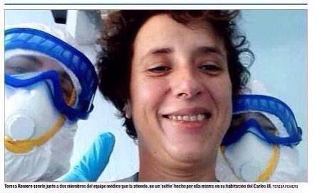 El selfie de Teresa Romero con parte del equipo del Carlos III es ❤️❤️❤️. Buen martes! http://t.co/DqgHzSkSRZ