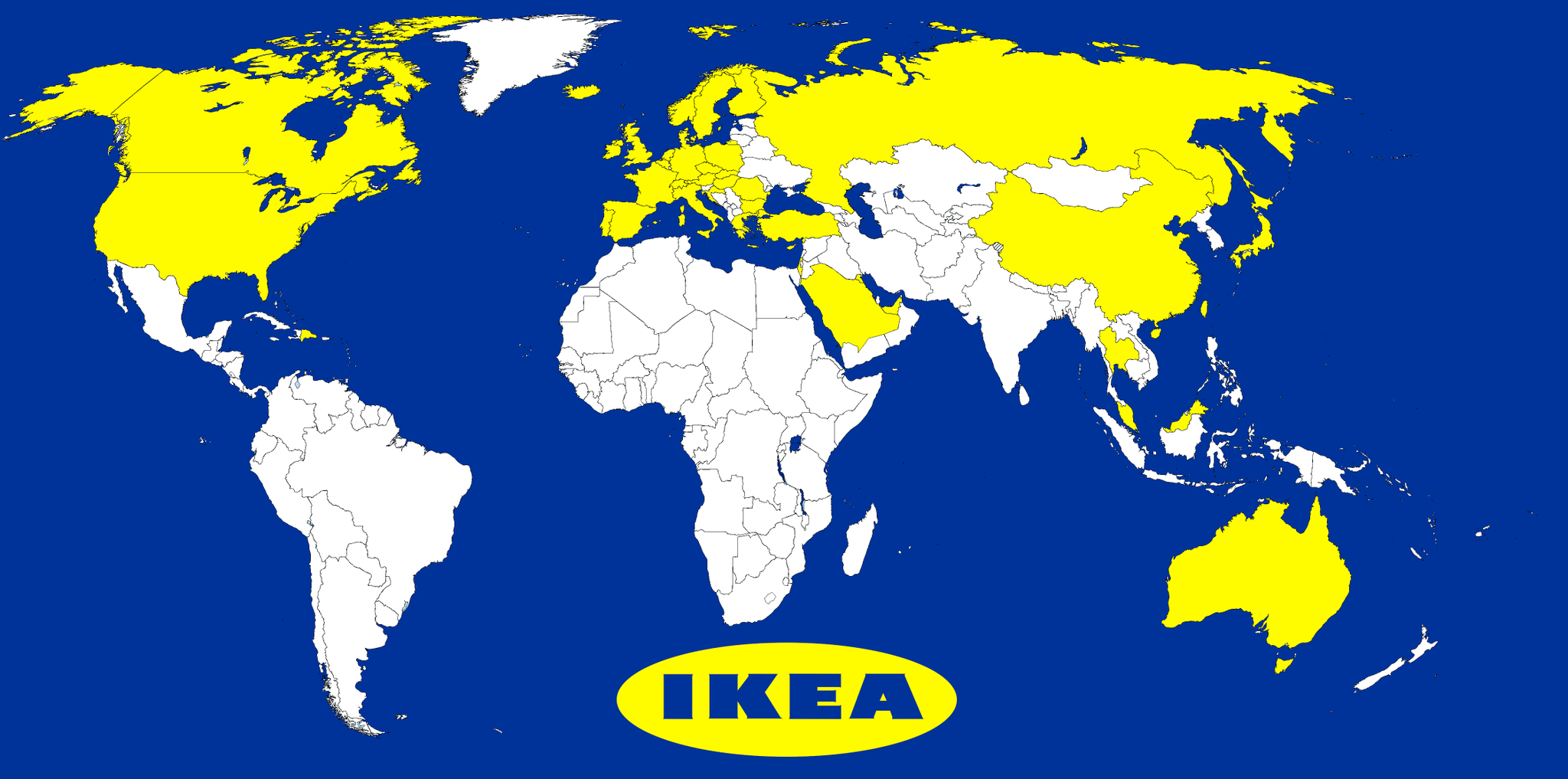 Brilliant Maps on Twitter Map of countries with an Ikea source http