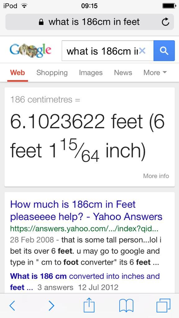Millie Accountbee Twitter One inch is 2.54 centimeters so inches = centimeters / 2.54. twitter