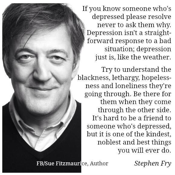 RT @andsharper22: Angel @NolanColeen - Please could you read & hopefully RT the words on depression by Stephen Fry. #HelpRaiseAwareness htt…