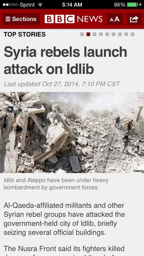 Syrian rebels launch attack on idibib pic.twitter.com/xDJnR90NcG