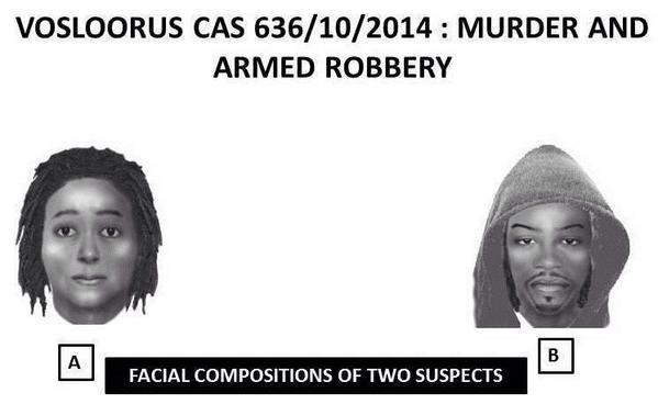 1/2 RT Just released by @SAPoliceService identikit of suspects A and B sought for #SenzoMeyiwa murder. http://t.co/Jy7J3fhcEZ