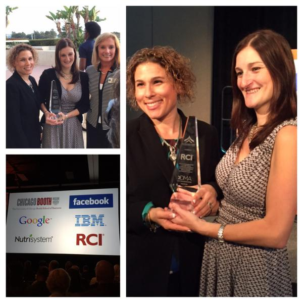 Jen S., accepts the DMA President's Award for Professional Development on behalf of RCI. #Work4RCI http://t.co/xk3OdTJzkj