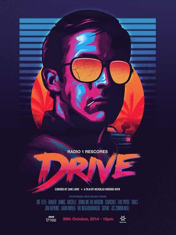 Proud to launch my poster for the @BBCR1 rescore of DRIVE… curated by @zanelowe. #R1DRIVE http://t.co/jswvtnBJQL