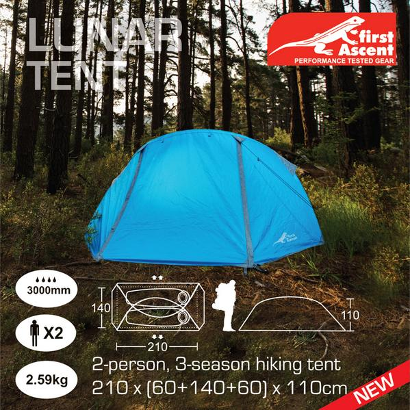 first Ascent on Twitter  The NEW Lunar tent. Lightweight and packed with features. Now available online //t.co/AtT0BV3ww8 //t.co/e7q21hWax1  & first Ascent on Twitter: