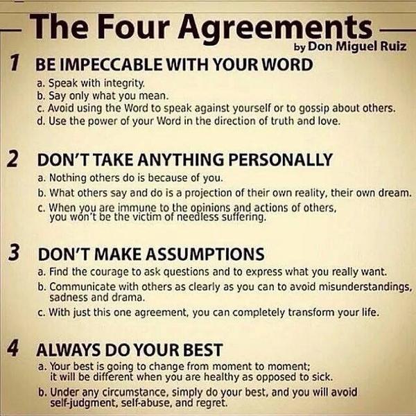 Wright Thurston On Twitter The Four Agreements 10millionmiler