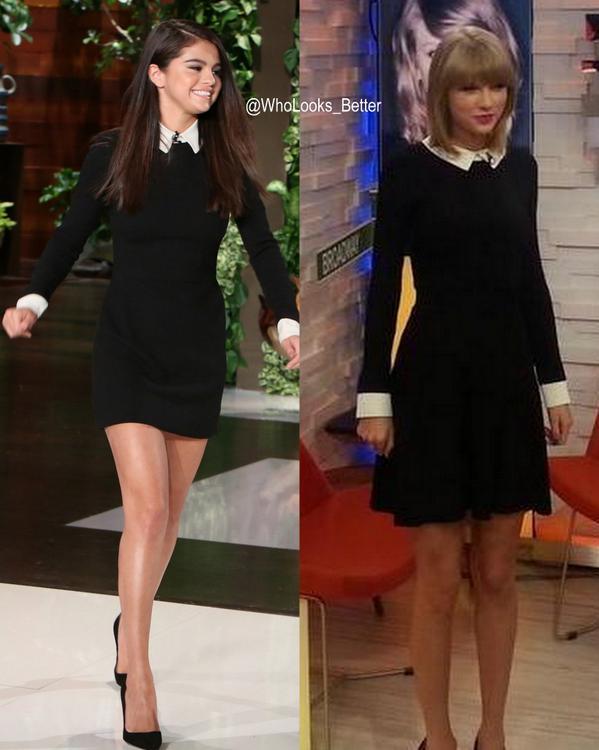Who Wore It Better On Twitter Selena Gomez Vs Taylor Swift Rt For Selena Fav For Taylor Http T Co 4e7sjh6acj