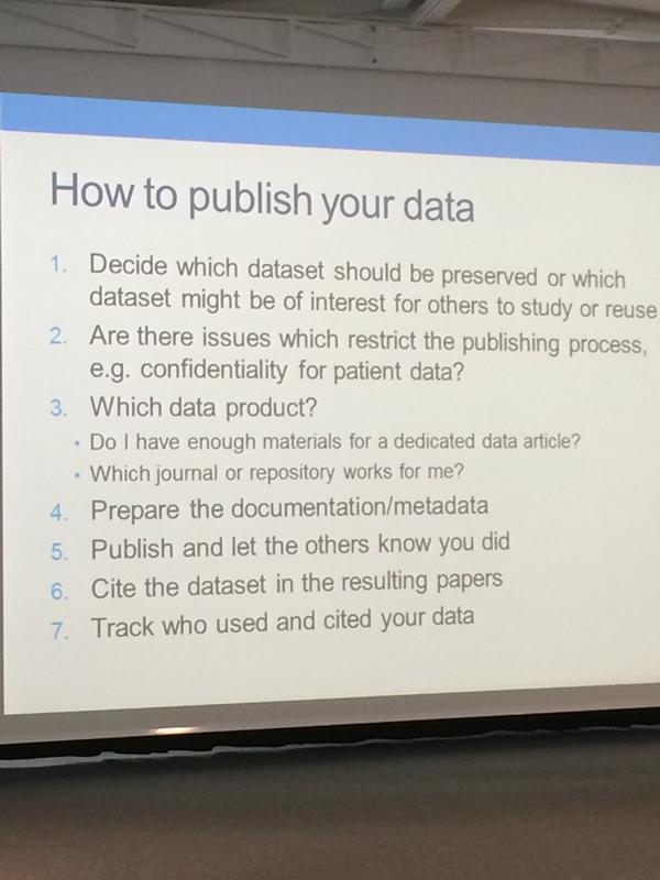 Good advice about data publication by S.Dallmeier-Tiessen (CERN) #ORDepfl14 http://t.co/87HDghJoNQ