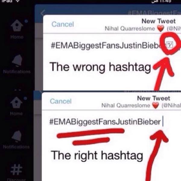 WRONG HASHTAG IT HAD AN EMOJI!!  RETWEET AND SHARE  #EMABiggestFansJustinBieberᅠᅠ  #EMABiggestFansJustinBieber http://t.co/fcQF00uYYs