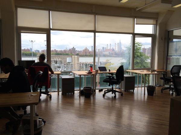 The view from our office is second to none! I love looking out over the East River at the #NYC Skyline! #DayInTheLife http://t.co/Vt26bACIWt
