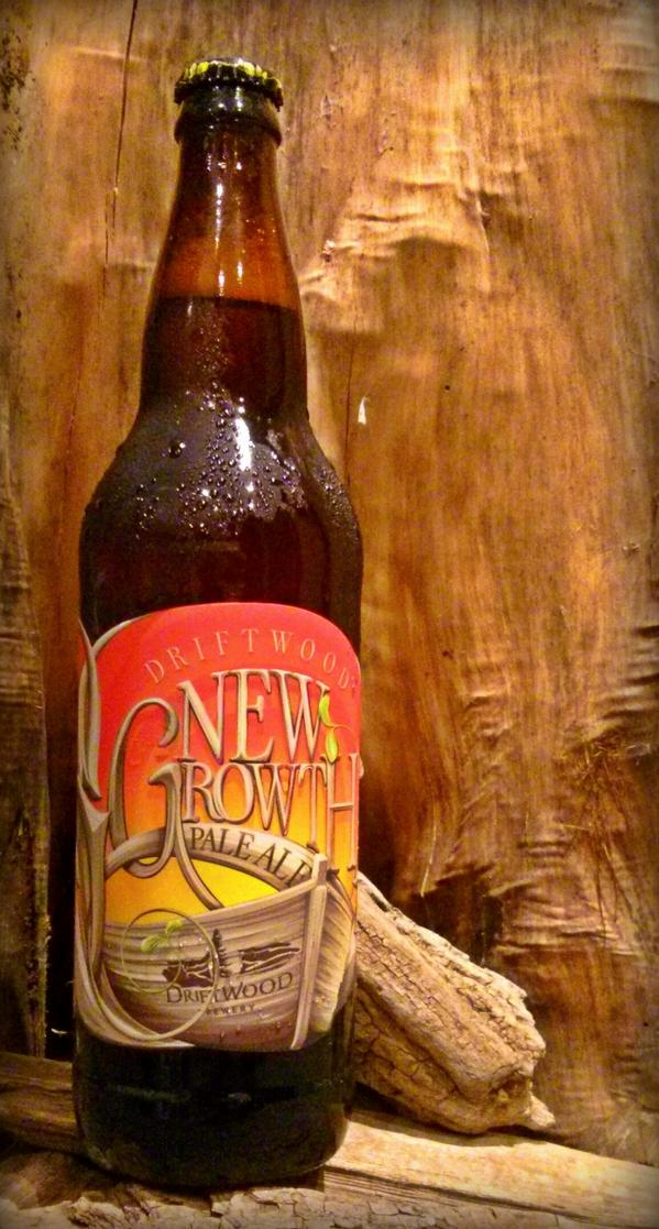 Our eponymous Driftwood Pale Ale has grown up to include 100% BC hops,new label,new name!Welcome New Growth Pale Ale! http://t.co/1KiGspDlKd