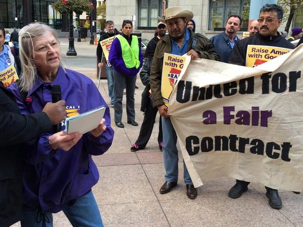"""I consider myself lucky that years ago janitors came together to form SEIU,"" #Chicago janitor Ewa. #RaiseAmerica http://t.co/PTNgjAk4jb"