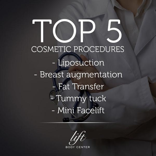 Are you thinking about undergoing cosmetic surgery? Here are the most popular procedures. http://t.co/sRlyReOyzn