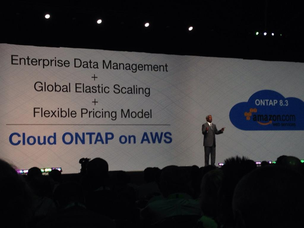 NetApp introduces Cloud ONTAP at #NTAPinsight USING AWS as example http://t.co/rU0I1moiiS