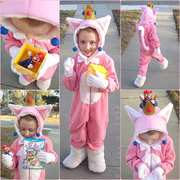 Diana on Twitter  Smallsu0027 #Halloween costumeu2013Princess Peach cat suit from her fav game #SuperMario3DWorld!  sc 1 st  Twitter & Diana on Twitter: