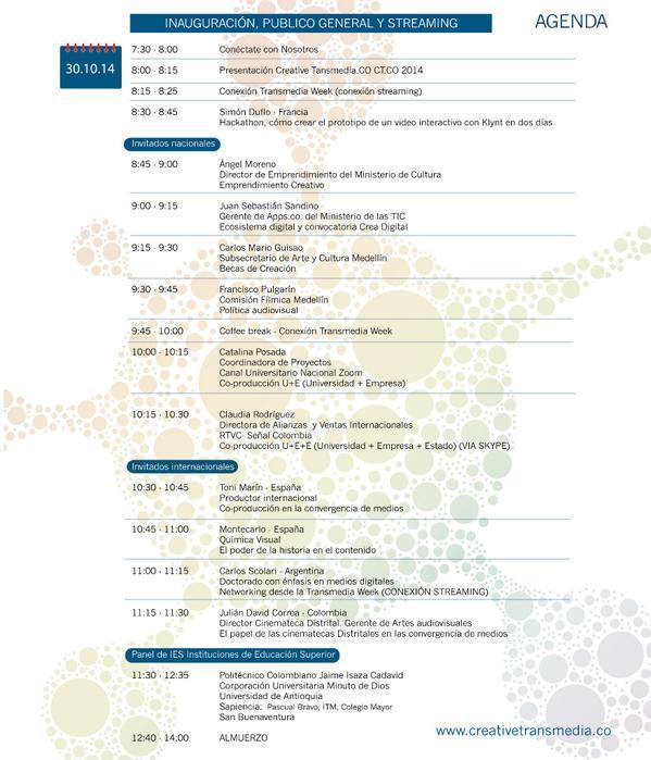 Día 1 de evento con presencia de: @EmprendCultural @AppsCo @Culturamde @FilmMedellin @canalzoomtv @SenalColombia http://t.co/2EawiJJdha