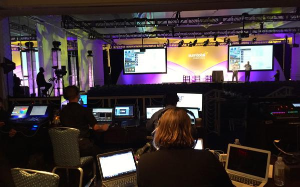 The rehearsals continue at #SumTotalTC14! Here's a backstage view of our team hard at work! http://t.co/J5vc5TNhWA