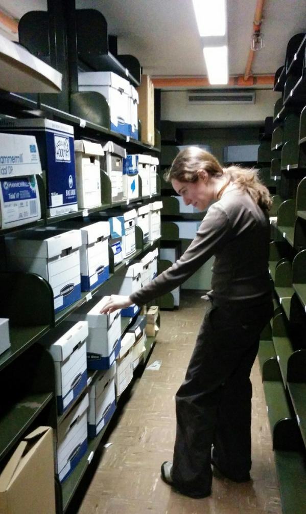 What's Tess up to with all those boxes? What is an unprocessed collection? Find out on 10/30 #AskAnArchivist http://t.co/sTgKIZaLNF