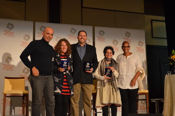 Our 2014 Innovation Award winners @PublicLab @sustaintech @FarmlandLP receiving their award at #SVNConf! http://t.co/ZFsPaefPnU