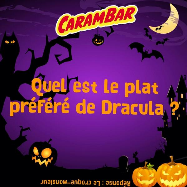 carambar on twitter blague carambar sp ciale halloween j 3 quel est le plat pr f r de. Black Bedroom Furniture Sets. Home Design Ideas