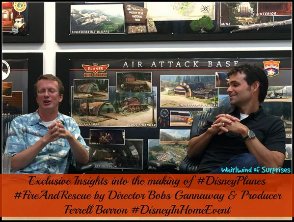 Exclusive insights into the making of Disney Planes #FireAndRescue with Director Bobs Gannaway and Producer Ferrell Barron